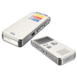 Wholesale Voice Recorder Wholesale - Wholesale- Rechargeable 8GB 650Hr Digital Audio Sound Voice Recorder Dictaphone MP3 Player silver