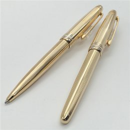 Wholesale Options Gold - MB High Quality Best Design gold color Roller Ball Pen and ballpoint pen options for best gift