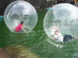 Wholesale Inflatable Water Walk - Clear 2m Inflatable Hamster Ball Inflatable Water Walking Ball Zorb Ball Water Balls Zorbing Balloon