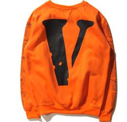 Wholesale White V Neck Hoodie - Lastest Winter hip hop men sport hoodie V lone X OFF WHITE hoodies brand men women sweatshirt pullover sudaderas hombre