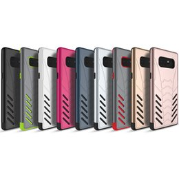 Wholesale Galaxy Note Armor - For Samsung Note 8 Case 2in1 Bat Armor Hybrid Soft TPU Rugged Shockproof Back Cover Phone Cases for Samsung Galaxy Note 8