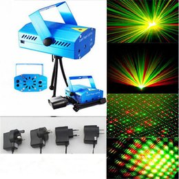 Wholesale Best Living Room - Best Selling Mini Laser Stage Lighting 150mW mini Green&Red Laser DJ Party Stage Lighting Light with Retail Box