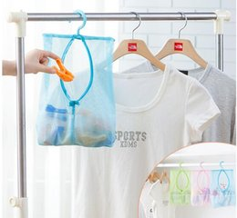 Wholesale Breast Hanging - Multi-function Space Saving Hanging Mesh Bags Clothes Organizer for Bedroom