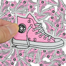 Wholesale accessories for shoes - Diy shoe patches for clothing iron embroidered patch applique iron on patches sewing accessories badge stickers on clothes bags