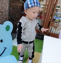 Wholesale Boy Cardigan Outfit - baby boy clothes cotton zipper hoodies Cardigan+pants outfit baby camouflage design mmclothing kids sport sets children jacket+pants CQZ080