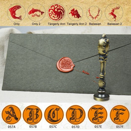 Wholesale Craft Paint Wholesale - Wholesale- Sealing Wax Stamp Set Kit Crafts European Retro Paint Fire Seal Assassin's Creed Game of Thrones Many Patterns Letter Tool