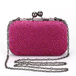 Wholesale Black Evening Party Bags - Wholesale- Woman Evening bag Women Diamond Rhinestone Clutch Crystal Day Clutch Wallet Wedding Purse Party Banquet Black Gold Silver Z14