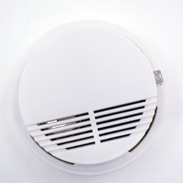 Wholesale 168 Power - SS-168 10PCS Smoke Alarm Beeping With Fire Alarm Warning and Photoelectric Sensor Battery Powered Smoke Detector For Protect AT