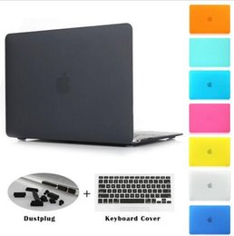 Wholesale Laptop Hard Shell Covers - Wholesale*New 2015 Matte Solid Hard Crystal Cases + Free Membrane Keyboard Cover For Macbook Air 11 13 Pro 13 15 Pro 13 15 Retina Shell