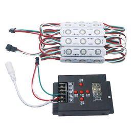 Wholesale Led Pixel 2811 - WS2811 2811 IC 3led 5050 RGB LED Pixel Digital Module String Light Waterproof DC 12V+1pcs T-500 Full Color Controller