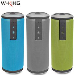 Wholesale Portable Music Dock - Wholesale- W-KING X6 Super Heavy Bass Bluetooth Speaker Outdoor Subwoofer Wireless Portable Waterproof Stereo Music Sound Box Drop Shipping