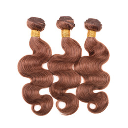 Wholesale Colored Extensions Wholesale - Peruvian Body Wave Human Hair Weave Bundles Colored Hair Peruvian Indian Brazilian Hair Extensions 1#, 2#,4#,30#,99j#,33#,27# Color