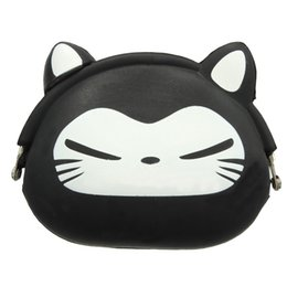 Кошелек с монетами для животных силикон онлайн-Wholesale- ASDS-Women Girls Wallet Kawaii Cute Cartoon Animal Silicone Jelly Coin Bag Purse Kids Gift Black