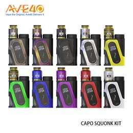 Wholesale Green Aliens - Authentic IJOY CAPO SQUONK 100W Kit With COMBO RDA Triangle 9ml Squonk Bottle compatible with 21700 20700 18650 Battery PD270 Smok Alien
