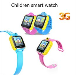 Wholesale Gsm Watch Phone 3g - New 3G wifi kids Smart Watch Children Kids gps Wristwatch With Camera GSM GPRS GPS Locator Tracker early teaching system