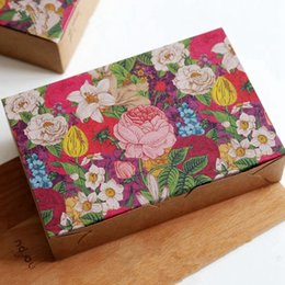 Wholesale packaging supplies cookie box - Free shipping flowers decoration long cookie biscuit cake boxes candy party gift package box supply favors
