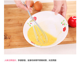 Wholesale Hand Blender Whisk - 2017 Practical Stainless steel egg beater Baking stir bar blender Household kitchen holding manual egg-whisk free shipping