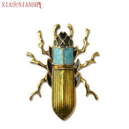 Wholesale steampunk wedding - New Fashion Enamel Pin Cute Insect Brooch For Women Environmental Protection Alloy Needle Accessories Men Steampunk Pins Jewelry