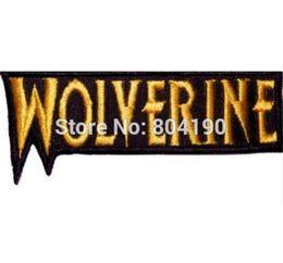 Wholesale Marvel T Shirts Wholesale - Wolverine Word Logo Embroidered Patch Marvel Comics X-men Xavier Magneto Logan iron on badge applique t shirt transfer