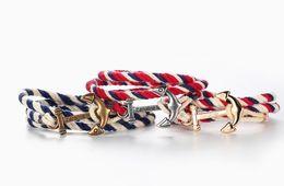 Wholesale Cotton Bar Girl - Fashion hand hand rope anchor men personality retro multicolor cotton couple bracelet bracelet by Tide Girls