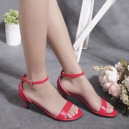 Wholesale Low Heel Formal Shoes Women - High Quality Fashion Women Ladies Low Heel Shoes Summer Sandals Simple Style Joker Elegant Office Lady Party Work Formal Ankle Strap Pumps