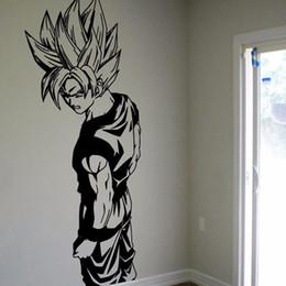 Wholesale Anime Wall Sticker - Super Saiyan Goku Vinyl Wall Decal - Dragon Ball Z, DBZ Anime Wall Art, Sticker Diamond Level