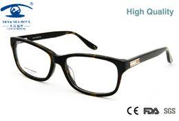 Wholesale Sheet Frames - Wholesale- High Quality Mens Eyeglass Frames Prescription Glasses Frames Men in Clear Lens with Metal Sheet Decoration oculos de grau