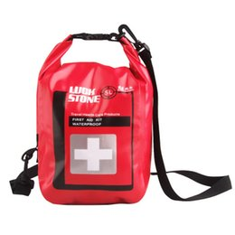 Wholesale First Medicine - 5L Outdoor First Aid Kit Storage Bags Emergency Waterproof Bags Survival Medicine Dry Storage Bags Camping Travel Kits H217