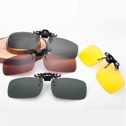 Wholesale Clip Glasses Night - Wholesale-Men Women Retro Flip Up Polarized Sunglasses Clip On Myopia Glasses Kids Day Night Vision Goggles Sun Glasses UV400 Three sizes