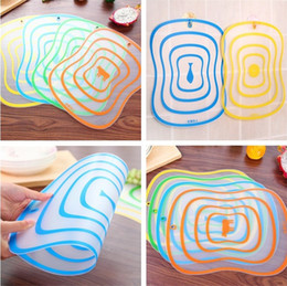 Wholesale Block Chopping Board - New Flexible Plastic Chopping Blocks Matte Transparent Chopping board Non-slip Frosted Cutting Board Kitchen supplies IA992