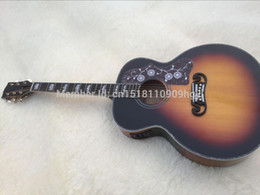 Wholesale Acoustic Factory - Wholesale-Factory Custom Top Quality sunset color tiger stripe Chibson J200 classic acoustic guitar,China Best,Free shipping