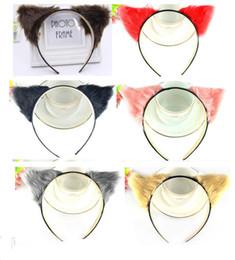 Wholesale Neko Ears - Brand New Orecchiette Cat Fox Long Fur Ears Anime Neko Party Costume Hair Headband Cosplay 10pcs