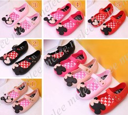 Wholesale Summer Leather Sandals For Girls - Girls Mini Melissa Shoes Summer girls Sandals Clogs Cute Girls shoe Children Mitch Baby Shoes For Girl shoes size EU24-29 mini melissa
