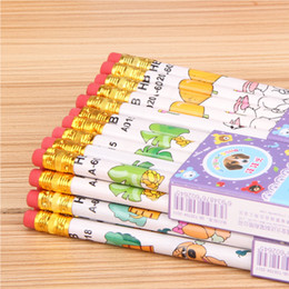 Wholesale Led Pencils Free Shipping - Wholesale - free shipping 4000 exquisite cartoon lead-free pencils for students and other commercial use