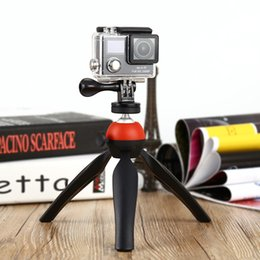 Wholesale Tripod Plates - New Camera Tripods Professional Universal Mini Tripod 7.28 inch Rotation Desktop Handle Stabilizer for Phone Action Camera Plate Stand B