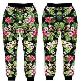 Wholesale new style trousers for women - Wholesale- New style design For Men Women Jogger Pants Pattern Flowers 3D Print Sweatpants Hip Hop Trousers