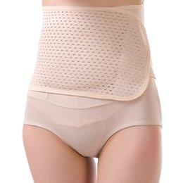 Wholesale Tummy Waist Shapers - Wholesale- Slimming Belt Waist Corset Spandex Bodysuit Postpartum Belly Band Tummy Trimmer Girdles Body Shapers Pregnancy Women