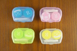 набор для ухода за глазами Скидка 10 Тип красочные контактные линзы держатель коробки конфеты цвета замочить хранения глаз Уход комплект двойной чехол линзы случаи с пинцетом и палкой