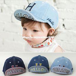 Wholesale Crochet Newborn Cowboy Hat - Cowboy Baby Hat Letter H Solid Baseball Cap Girls Boys Infant Cotton Caps Fashion Accessories Newborn Baby Boy Cap 2016 Hot