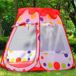 Wholesale Kids Large Indoor Tents - Wholesale- New Large Size Baby Play Tent Kids Game House Child Cute Kids Play Tent Pretty Indoor And Outdoor Play Tent ,Child Birthday Gift