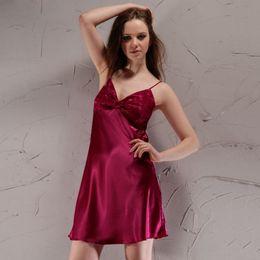 Wholesale- Summer Sleeveless Sling Sexy Nightgown Chemise Women Night  Nightdress Nightwear Sleep Shirt Sleeping Dress Nighties SY006 22 955342951