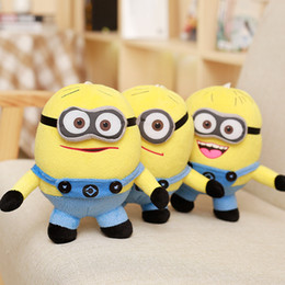 Wholesale Despicable 3d Eyes - Minion Plush Toy 18CM 25CM 33CM 50CM 90CM NO COTTON Despicable ME Movie Plush Toy Jorge Stewart Dave Minions 3D eyes with tags Smile Zipper