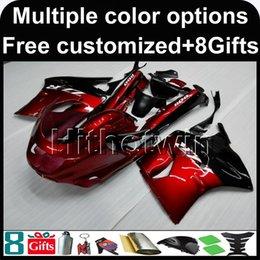 Wholesale 93 Kawasaki Ninja Fairings - 23colors+8Gifts RED motorcycle cowl for Kawasaki ZX11R ZZR1100 92-01 92 93 94 95 96 97 ZZR1100 98 99 00 01 02 ABS Plastic Fairing