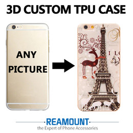 Wholesale Custom Printing Companies - DIY Custom Art 3D Print Case Custom-made Company logo Photo Picture Cover Case for iphone 6 for iphone 7 Mobile Phone