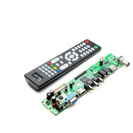 Wholesale Vga Lcd Tv - Wholesale-Hot Sale New V59 Universal LCD TV Controller Driver Board PC VGA HDMI USB Interface With Remote Control