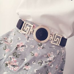 Wholesale Metal For Fabric - Hot Full Metal Mirror Belts for women Luxury Gold plate lady waist belt with for dresses Chains High Quality pemehb bg-018