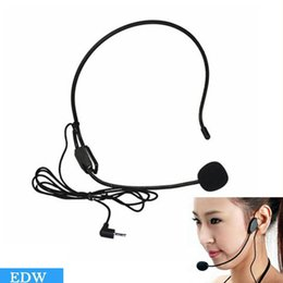 Wholesale Amplifier Voice Speaker - 2016 Mini studio microfone condensador One piece Black For Voice Amplifier Speaker Professional Stand Wired Headset Microphone