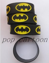 Wholesale Popular Silicone Wristbands - Wholesale 50 pcs set New Popular Batman Wristbands Silicone Bracelets S-05