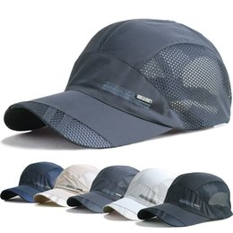 Wholesale Dry Bones - Men and women spring snapback quick dry outdoor summer sun hat bone breathable mesh chapeu casual sports mesh men Baseball caps