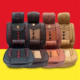 Wholesale Leather Car Seat Universal - five seats General purpose Durable leather Car Seat Cover Full Seat Covers for Crossovers Sedans universal Auto Interior Styling Decoration